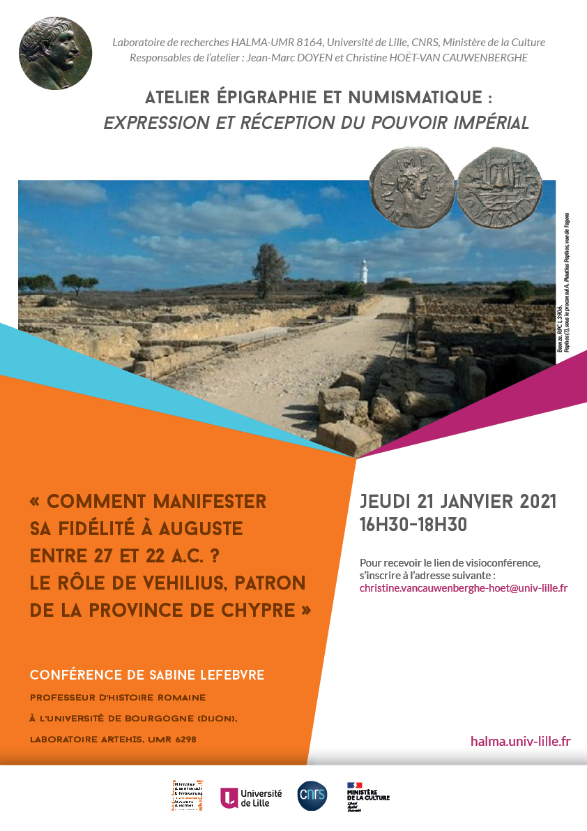 20210111 Halma epigraphie numismatique expression et pouvoir imperial