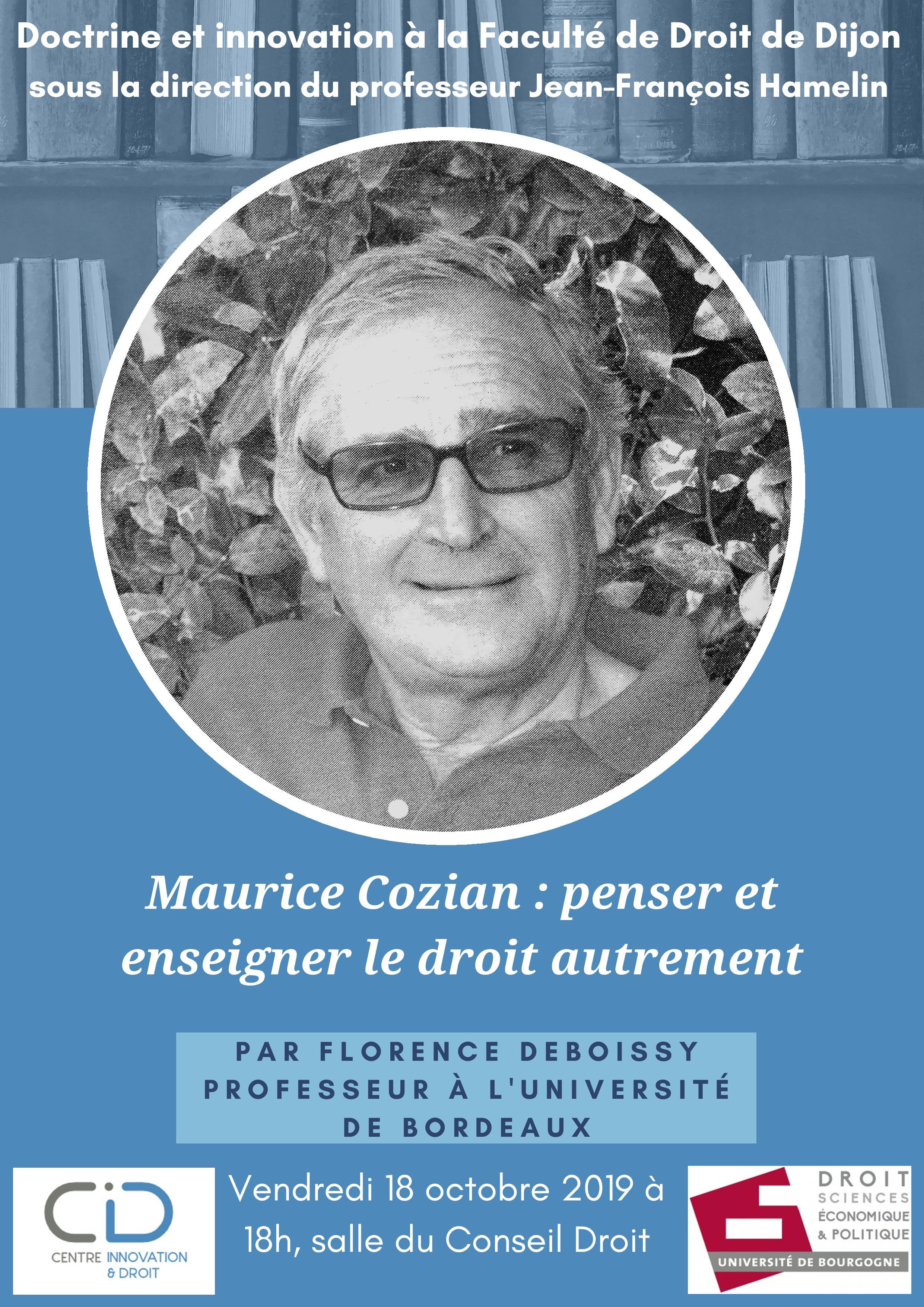 Conférence Cozian
