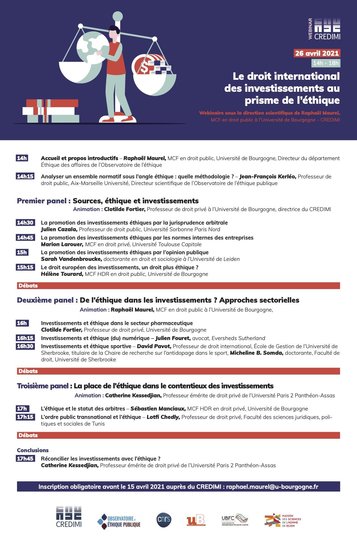 Programme Webinaire DIIPE 26 avril 2021