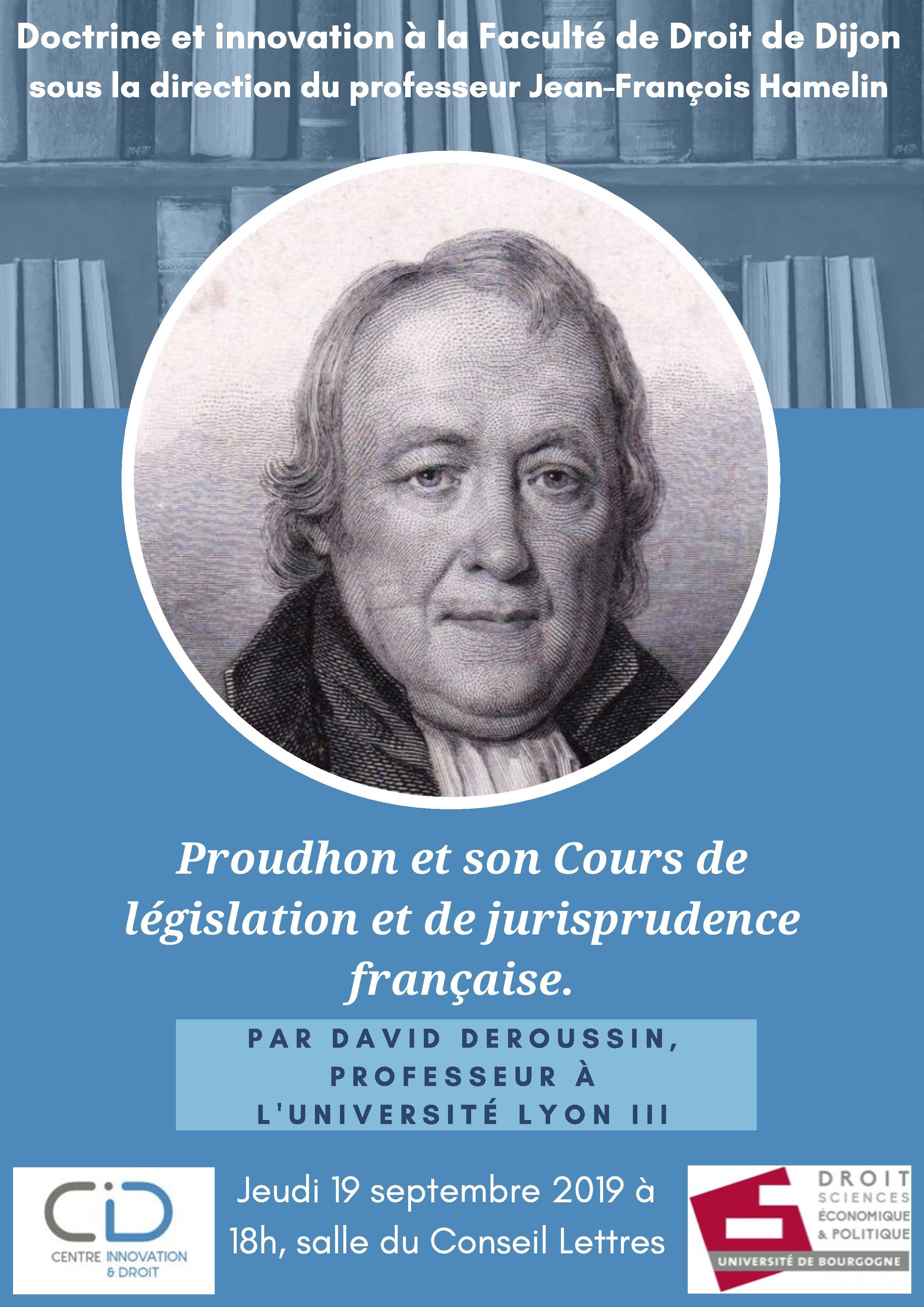 Proudhon et son Cours de législation et de jurisprudence française. 3 page 001