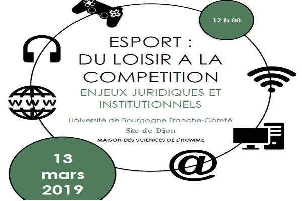 conférence e sport 13.03.2019