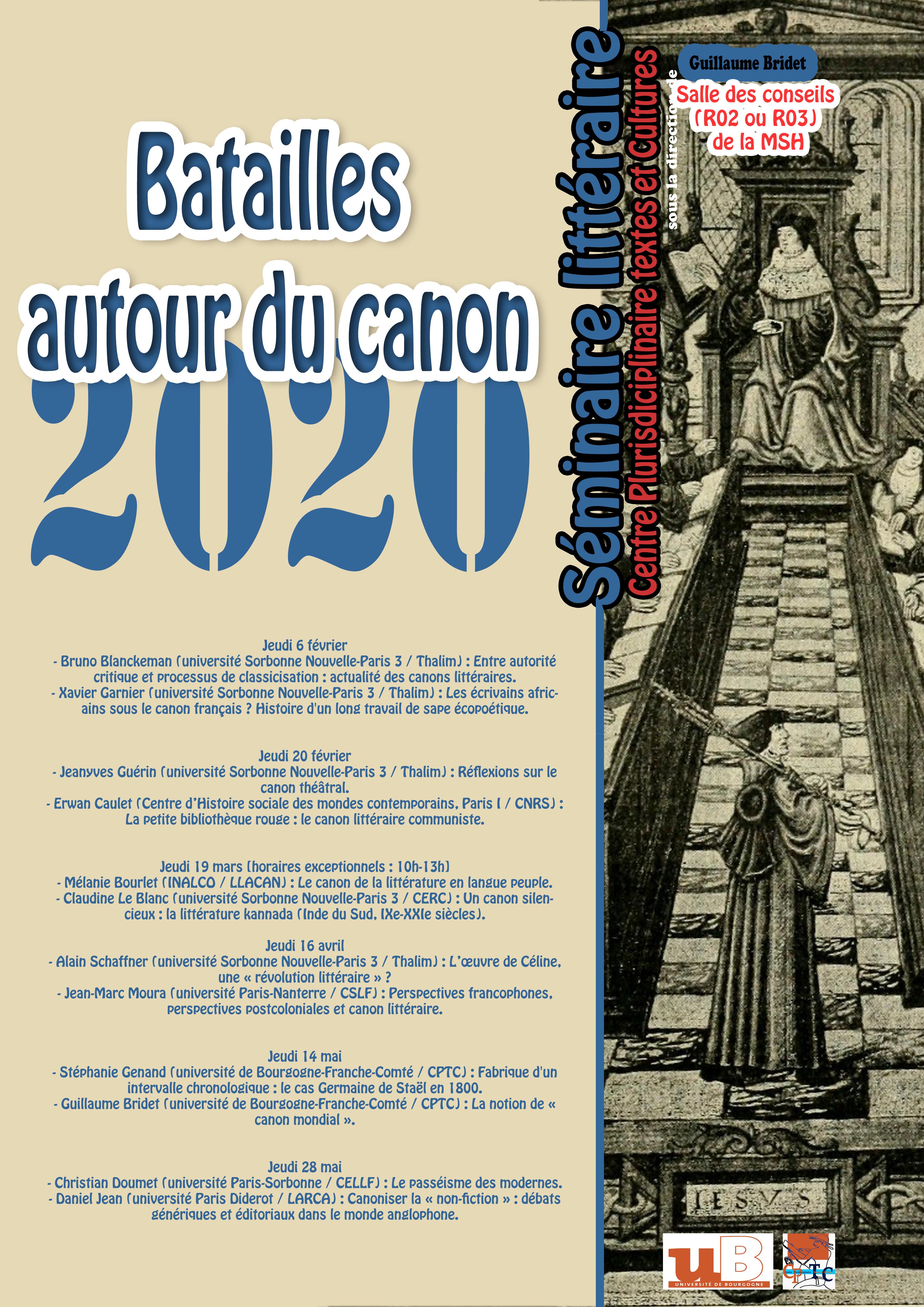 batailles autour du canon année 2020