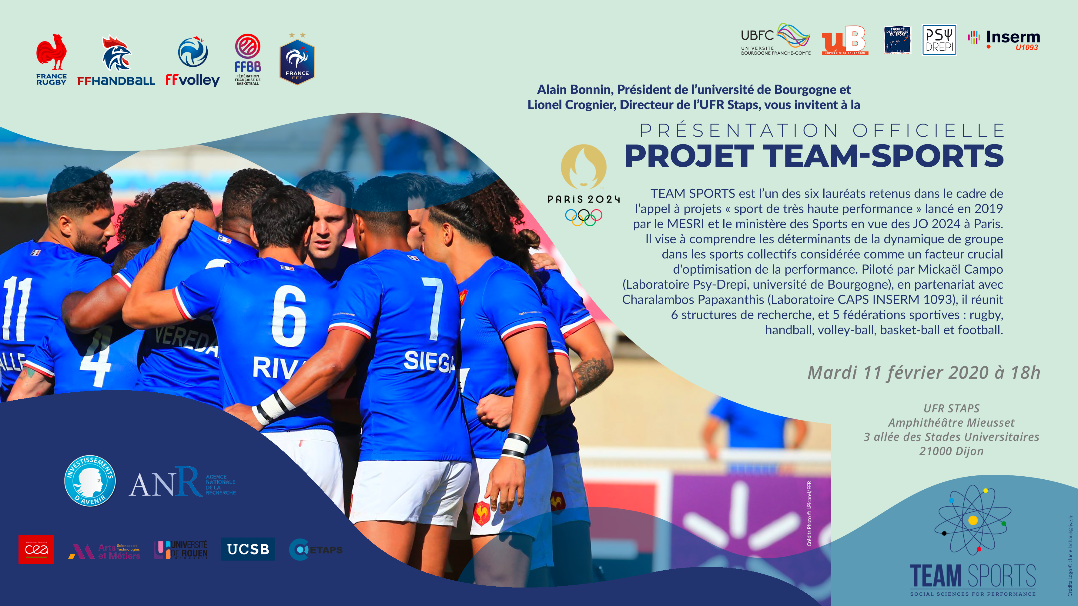 Invit Projet Team Sports